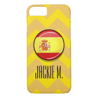 Glossy Round Flag of Spain iPhone 8/7 Case