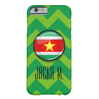 Glossy Round Flag of Suriname Barely There iPhone 6 Case