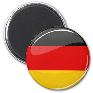 Glossy Round German Flag 2 Inch Round Magnet