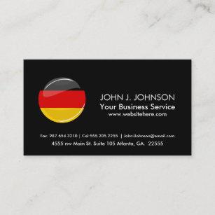 Round business cards zazzle glossy round german flag business card wajeb Choice Image