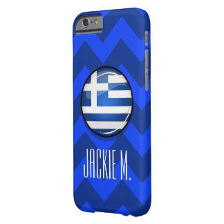 Glossy Round Greece Flag Barely There iPhone 6 Case