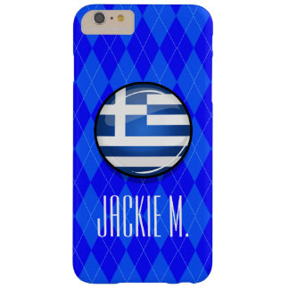 Glossy Round Greece Flag Barely There iPhone 6 Plus Case