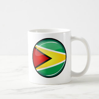 Glossy Round Guyanese Flag Coffee Mug