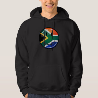 Glossy Round Happy South African Flag Hoodie