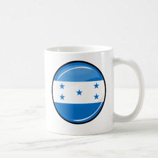 Glossy Round Honduran Flag Coffee Mug