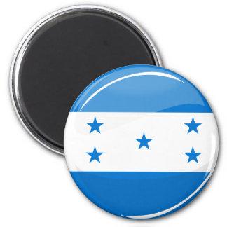Glossy Round Honduran Flag 2 Inch Round Magnet