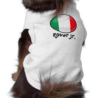 Glossy Round Italian Flag Shirt