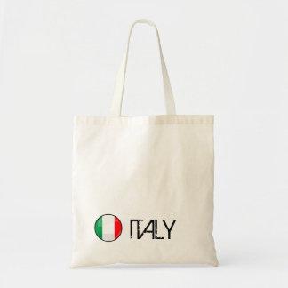 Glossy Round Italian Flag Tote Bag