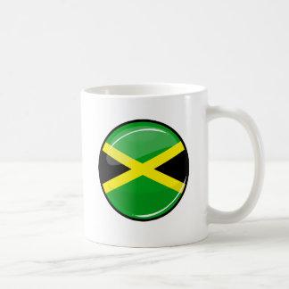 Glossy Round Jamaican Flag Coffee Mug