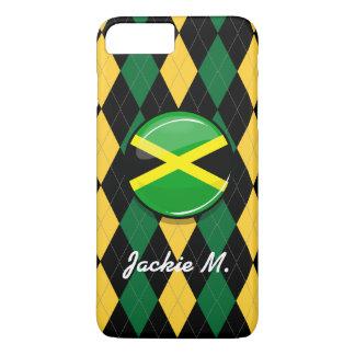 Glossy Round Jamaican Flag iPhone 7 Plus Case