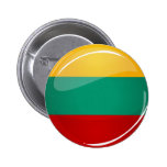 Glossy Round Lithuanian Flag 2 Inch Round Button