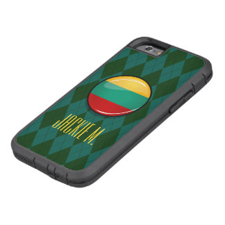 Glossy Round Lithuanian Flag Tough Xtreme iPhone 6 Case