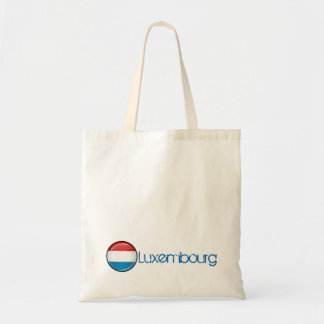 Glossy Round Luxembourg Flag Tote Bag
