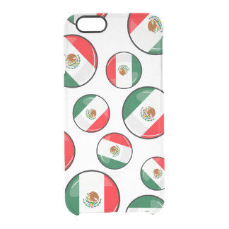 Glossy Round Mexican Flag Clear iPhone 6/6S Case