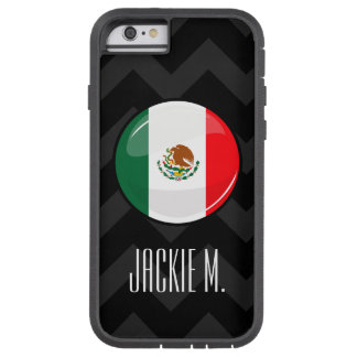 Glossy Round Mexican Flag Tough Xtreme iPhone 6 Case