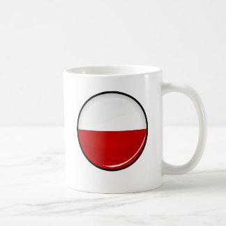 Glossy Round Monaco Flag Coffee Mug