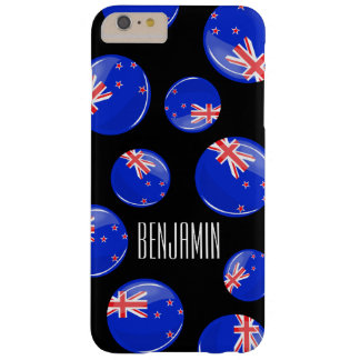 Glossy Round New Zealand Flag Barely There iPhone 6 Plus Case