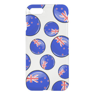 Glossy Round New Zealand Flag iPhone 8/7 Case