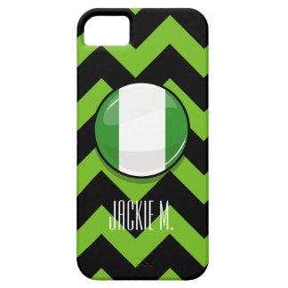 Glossy Round Nigerian Flag iPhone SE/5/5s Case