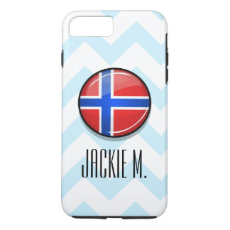 Glossy Round Norway Flag iPhone 7 Plus Case