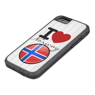 Glossy Round Norway Flag Tough Xtreme iPhone 6 Case