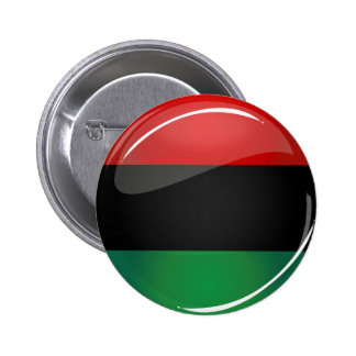 Glossy Round Pan-African Flag 2 Inch Round Button