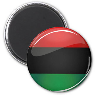 Glossy Round Pan-African Flag 2 Inch Round Magnet