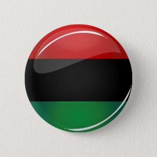 Glossy Round Pan-African Flag Pinback Button