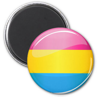 Glossy Round Pansexual Pride Flag 2 Inch Round Magnet