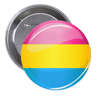 Glossy Round Pansexual Pride Flag Button