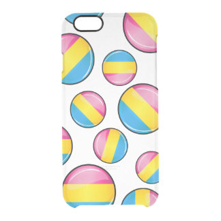 Glossy Round Pansexual Pride Flag Clear iPhone 6/6S Case