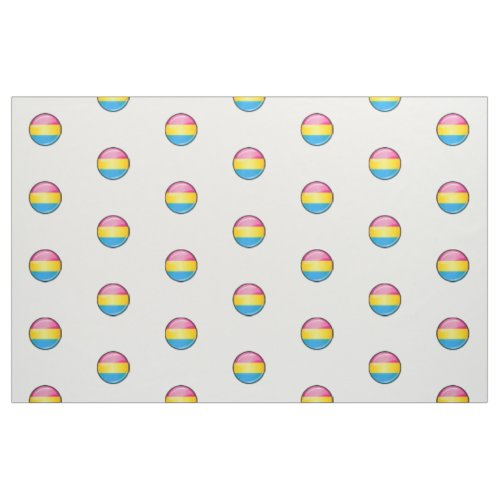 Glossy Round Pansexual Pride Flag Fabric