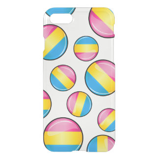 Glossy Round Pansexual Pride Flag iPhone 8/7 Case