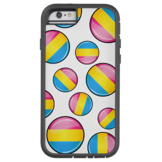 Glossy Round Pansexual Pride Flag Tough Xtreme iPhone 6 Case