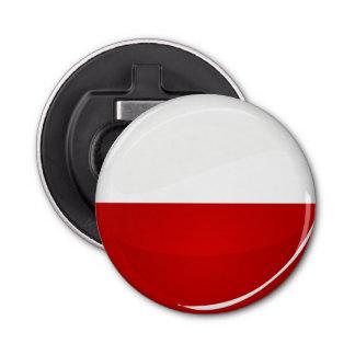 Glossy Round Polish Flag Bottle Opener