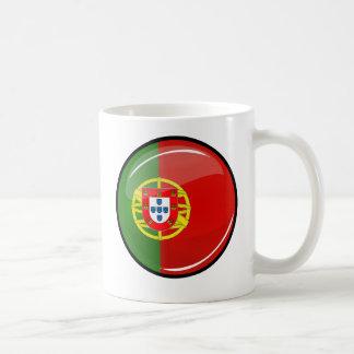 Glossy Round Portuguese Flag Coffee Mug