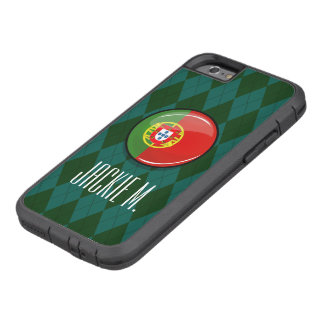 Glossy Round Portuguese Flag Tough Xtreme iPhone 6 Case