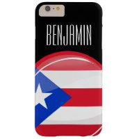 Glossy Round Puerto Rican Flag Barely There iPhone 6 Plus Case