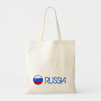 Glossy Round Russia Flag Tote Bag