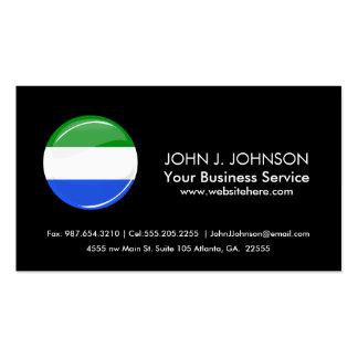 Glossy Round Sierra Leone Flag Business Card