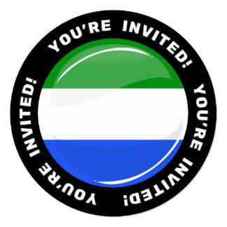 Glossy Round Sierra Leone Flag Card