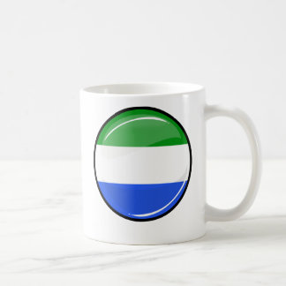 Glossy Round Sierra Leone Flag Coffee Mug