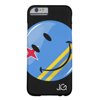 Glossy Round Smiling Aruban Flag Barely There iPhone 6 Case