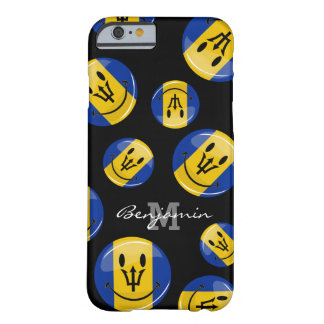 Glossy Round Smiling Barbados Flag Barely There iPhone 6 Case