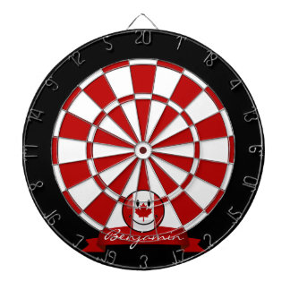 Glossy Round Smiling Canadian Flag Dart Board