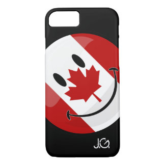 Glossy Round Smiling Canadian Flag iPhone 8/7 Case