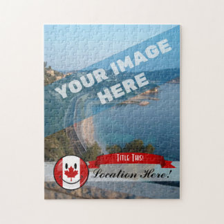 Glossy Round Smiling Canadian Flag Jigsaw Puzzle