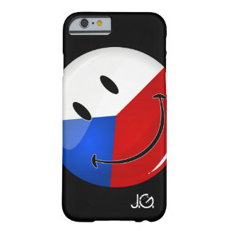 Glossy Round Smiling Czech Rep. Flag Barely There iPhone 6 Case