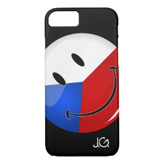 Glossy Round Smiling Czech Rep. Flag iPhone 7 Case