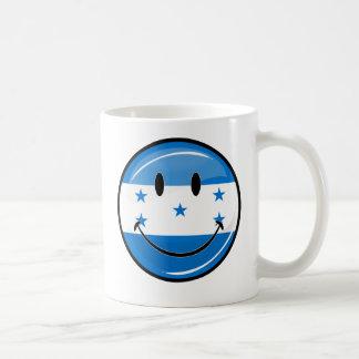 Glossy Round Smiling Honduran Flag Coffee Mug